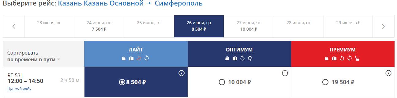 рейсы в Крым от ЮВТ Аэро